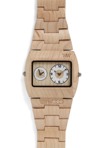 Woodgrain an Hour Watch - Tan, Solid, Statement, Eco-Friendly
