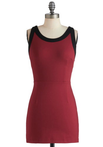 Ladder of Success Dress - Red, Black, Solid, Girls Night Out, Bodycon / Bandage, Sleeveless, Short, Backless, Party, Mini