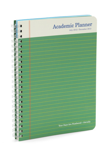 Scholastic Smarty Academic Planner by Knock Knock - Green, Red, Yellow, White, Scholastic/Collegiate