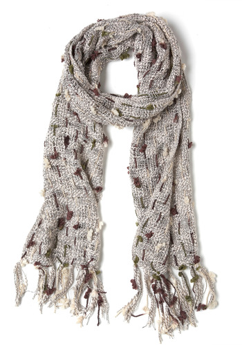 Clouds Over the Clearing Scarf - Tan, Knitted, Casual, Rustic, Top Rated