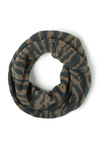Wild about Warmth Infinity Scarf in Zebra - Blue, Tan, Animal Print