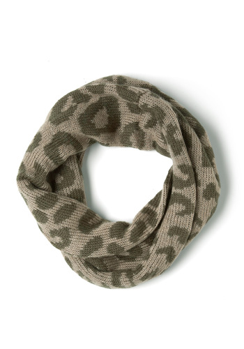 Wild about Warmth Infinity Scarf in Leopard - Green, Brown, Animal Print