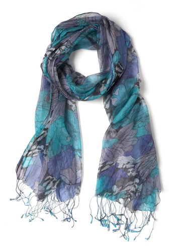 A Wink of Watercolor Scarf - Purple, Multi, Floral
