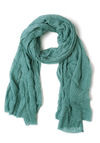 Leaf an Imprint Scarf in Aqua - Green, Solid