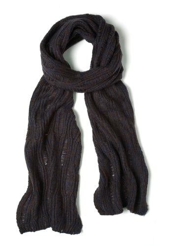 Season Change is Good Scarf in Night - Blue, Knitted, Winter, Casual