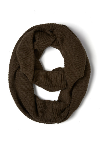 Infinity Party Scarf in Dark Chocolate - Brown, Solid, Winter