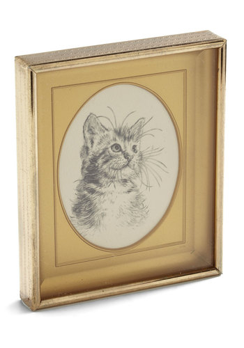 Vintage Sit for a Purr-trait Print