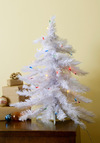 Glow Tannenbaum Mini Christmas Tree - White, Holiday, Multi