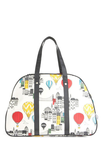 Looking Up Tote - White, Red, Yellow, Blue, Black