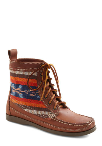 Fleet of Foothills Boot - Tan, Multi, Solid, Flat, Lace Up, Casual, Rustic, Fall, Leather