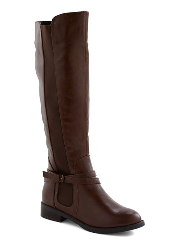 The Right Trek Boot - Brown, Solid, Buckles, Flat, Casual, Rustic, Fall, Winter