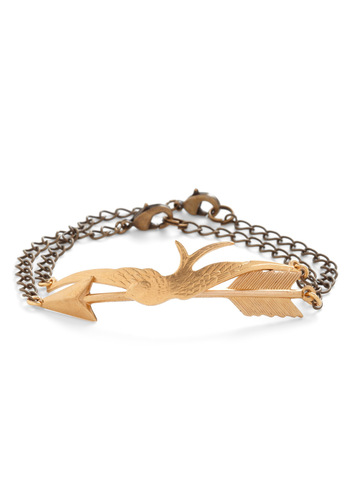 Swift as a Sparrow Bracelet - Gold, Solid