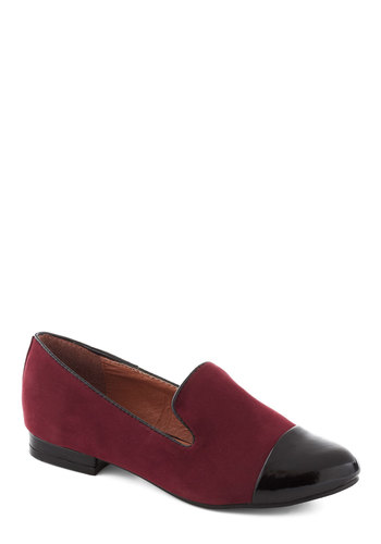 Jolt of Legitimate Flat - Red, Black, Solid, Trim, Casual, Fall, Faux Leather, Low, Menswear Inspired