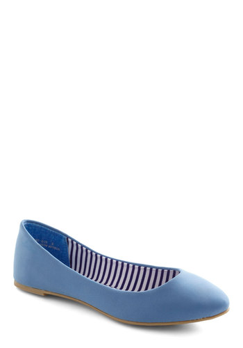 Take a Dip Flat - Blue, Solid, Flat, Casual, Nautical, Faux Leather