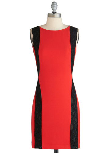 Sample 2215 - Red, Black, Lace, Party, Bodycon / Bandage, Sleeveless, Lace