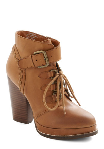 Shenanigans Boot by Seychelles - Tan, Safari, High, Lace Up, Chunky heel, Casual, Leather, Platform