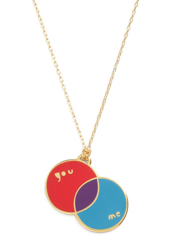 Corked Necklace in Diagram - Gold, Red, Blue, Purple, Casual, Graduation