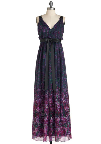 Jill Jill Stuart I Like It Lilac Dress - Purple, Multi, Floral, Party, Boho, Maxi, Tank top (2 thick straps), Long, Belted, Wedding, Daytime Party, V Neck