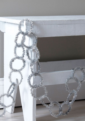 Pure and Tinsel Garland by One Hundred 80 Degrees - Silver, Dorm Decor, Holiday
