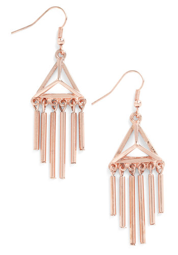 Pyradmid Dream Earrings - Gold, Solid