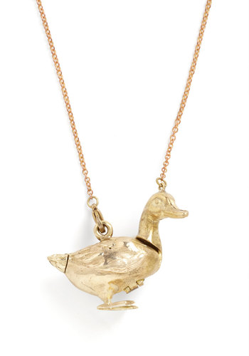 X My Heart Necklace by Monserat De Lucca - Gold, Casual, Quirky