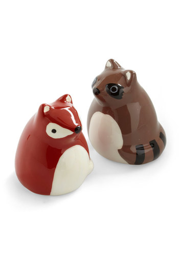 First and Forest Shaker Set - Brown, Kawaii, Red, Black, White, Dorm Decor, Quirky