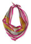 Miami Amore Scarf - Multi, Print, Yellow, Pink, Grey, Casual, 80s