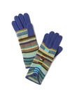 Take Your Peak Gloves - Blue, Multi, Stripes, Knitted, Winter, Holiday Sale