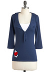 Forget Me Nautical Top - Blue, Red, White, Casual, Nautical, Long Sleeve, Mid-length, Spring