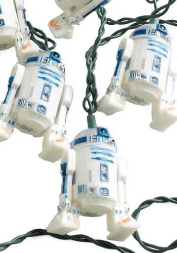 R2 Afraid of the Dark? Lights - White, Vintage Inspired, Dorm Decor, Quirky, Better, Sci-fi