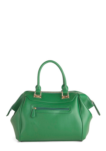 A Lovely Thyme Bag - Green, Faux Leather, Solid, Casual