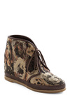 Pupped Up Kicks Wedge by 80%20 - Brown, Tan / Cream, Black, Print with Animals, Casual, Fall, Wedge, Lace Up, Flat, Variation