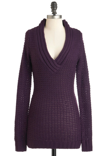 Hold Me Close-Knit Sweater in Aubergine