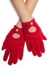The Power of Gloves by Tulle Clothing - Red, Solid, Knitted, Fall, Winter