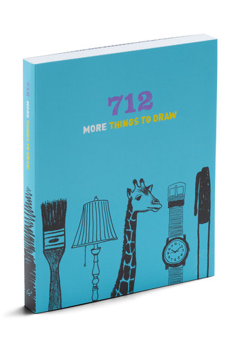 712 More Things to Draw by Chronicle Books - Blue, Handmade & DIY, Scholastic/Collegiate