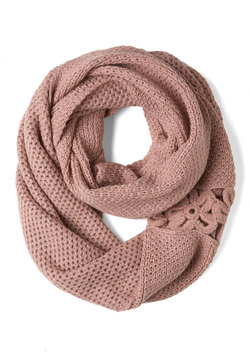 A Shortcut Above Scarf in Pink