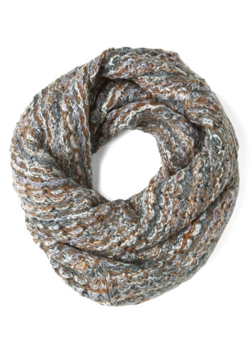 Wrap Music Scarf in Stone - Multi, Knitted