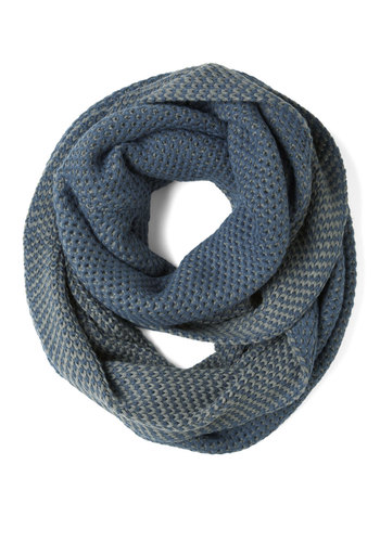 Chill of the Moment Scarf in Blue - Blue, Knitted, Winter, Casual