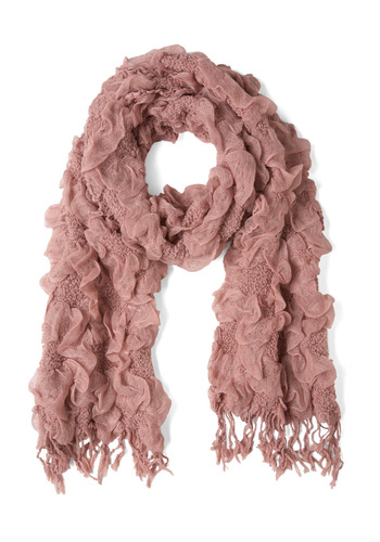 Trail to the Willow Tree Scarf - Pink, Solid, Flower, Sheer