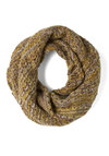 Wrap Music Scarf in Moss - Tan, Solid, Knitted, Winter