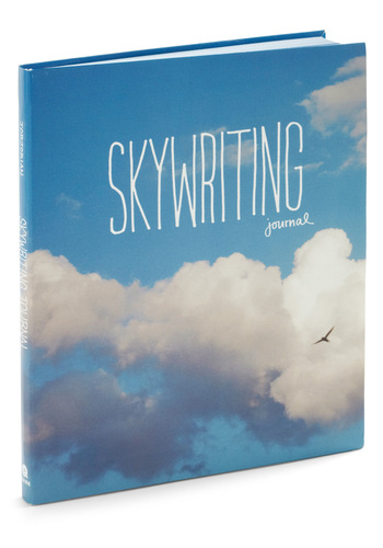 Skywriting Journal - Blue, White, Dorm Decor, Scholastic/Collegiate