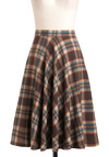 Simple Math Skirt in Primary by Pink Martini - Long, Brown, Red, Blue, White, Plaid, A-line, Multi, Yellow, Pockets, Casual, Fall, Cotton, Fit & Flare