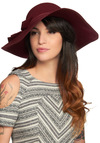 Clever Character Hat - Red, Solid, Bows, Party, Casual, Film Noir, Vintage Inspired, French / Victorian, Winter, Summer