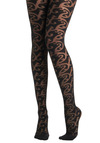 Everything's Vine Tights by Sneaky Fox - Black, Print, Party, Statement, Sheer
