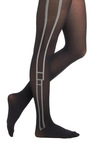Lined Date Tights - Black, White, Party, Casual