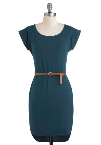 Carte Blanche Cute Dress - Blue, Solid, Work, Sleeveless, Belted, Bodycon / Bandage, Short