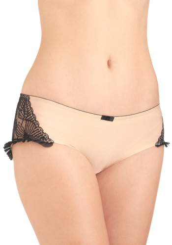 No Ordinary Underlayer Undies - Solid, Bows, Tan, Black, Lace