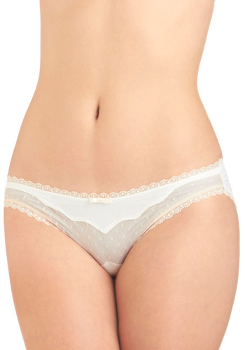 Living in a Dream Undies - Cream, Tan / Cream, Lace, Sheer, Bows, Vintage Inspired