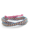 Braid Secrets Bracelet - Multi, Blue, Pink, Silver, Studs, Urban, Casual