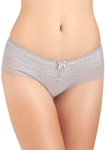 Here or Far Undies - Grey, Solid, Bows, Lace, Sheer, Vintage Inspired, Tis the Season Sale